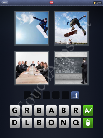 4 Pics 1 Word Level 764 Solution