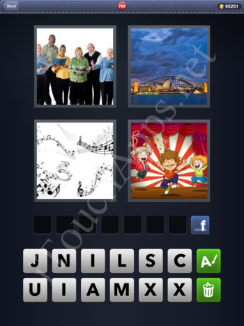 4 Pics 1 Word Level 799 Solution
