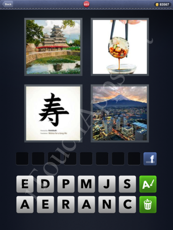 4 Pics 1 Word Level 833 Solution