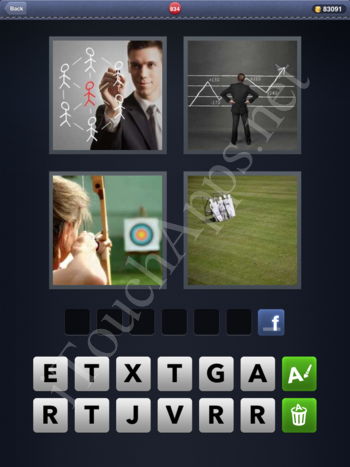 4 Pics 1 Word Level 834 Solution