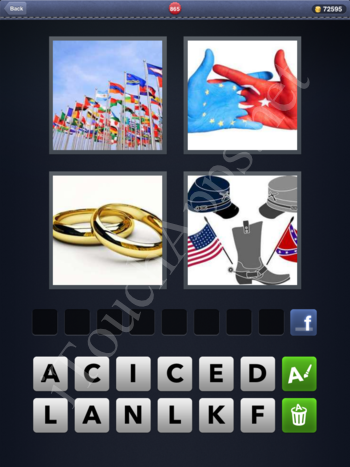 4 Pics 1 Word Level 865 Solution