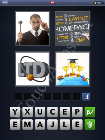 4 Pics 1 Word Level 869 Solution