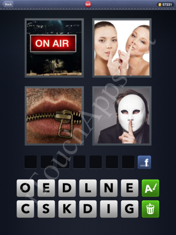 4 Pics 1 Word Level 909 Solution