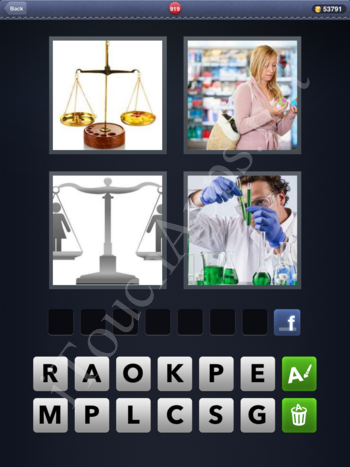 4 Pics 1 Word Level 919 Solution