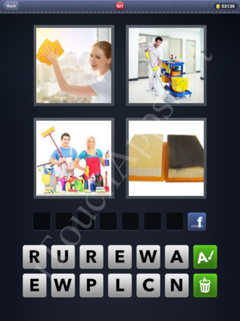 4 Pics 1 Word Level 921 Solution
