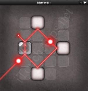 Lazors Diamond 1 Solution