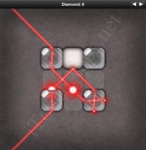 Lazors Diamond 9 Solution