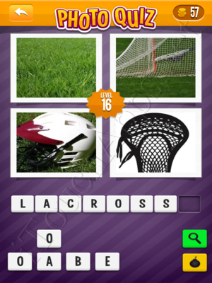 Photo Quiz Sports Pack Level 16 Solution