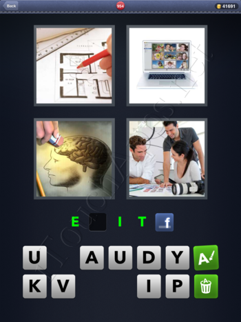 4 Pics 1 Word Level 954 Solution