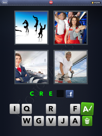 4 Pics 1 Word Level 956 Solution