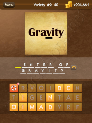 What's the Saying Variety 2 Level 40 Answer
