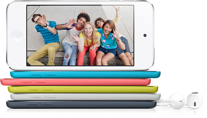 Colored iPod Touch Models