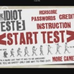 The Idiot Test Start Screen