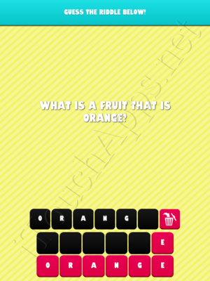 What the Riddle Level 0 Answer