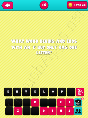 What the Riddle Level 10 Answer