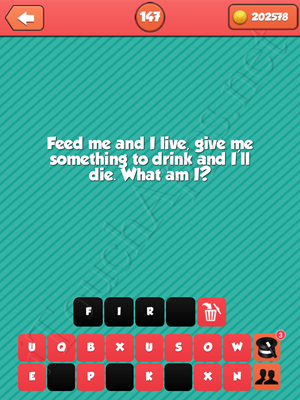 Riddle Me That Level 147 Answer