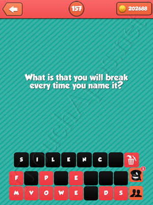 Riddle Me That Level 157 Answer