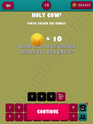 What the Riddle Level 16 Answer