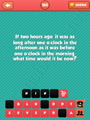 Riddle Me That Level 165 Answer