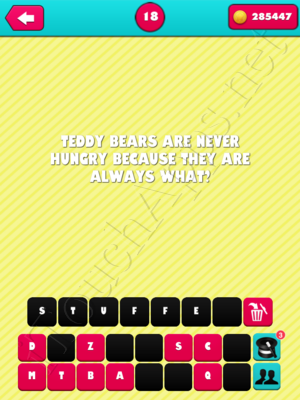 What the Riddle Level 18 Answer