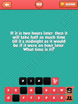 Riddle Me That Level 182 Answer