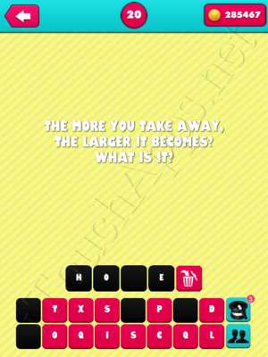 What the Riddle Level 20 Answer