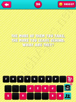 What the Riddle Level 26 Answer