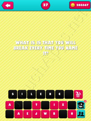 What the Riddle Level 27 Answer