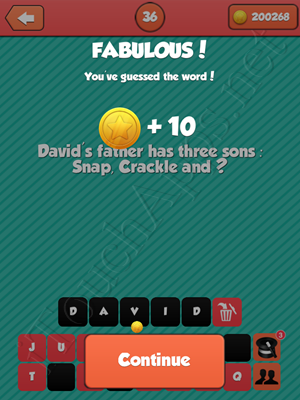 Riddle Me That Level 36 Answer