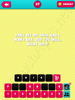 What the Riddle Level 37 Answer