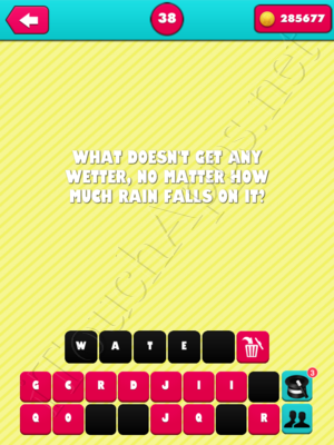 What the Riddle Level 38 Answer