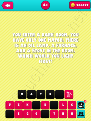 What the Riddle Level 41 Answer