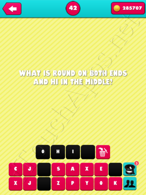 What the Riddle Level 42 Answer