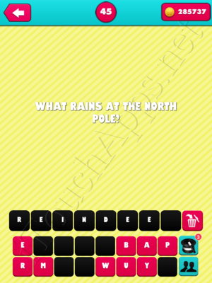 What the Riddle Level 45 Answer