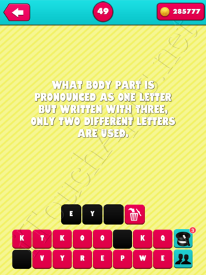 What the Riddle Level 49 Answer