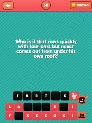 Riddle Me That Level 50 Answer