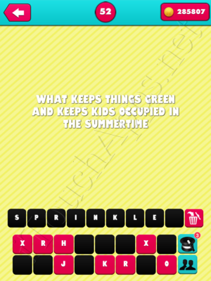 What the Riddle Level 52 Answer