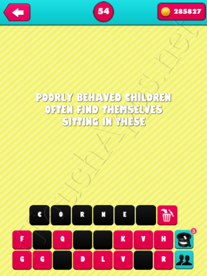 What the Riddle Level 54 Answer