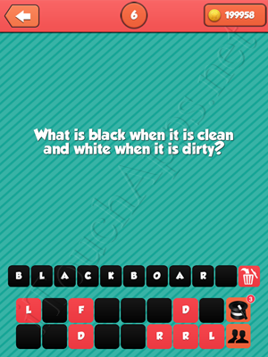 Riddle Me That Level 6 Answer