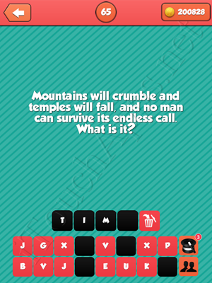 Riddle Me That Level 65 Answer