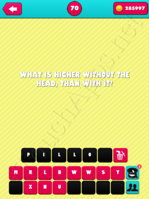 What the Riddle Level 70 Answer