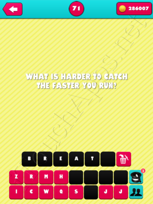 What the Riddle Level 71 Answer