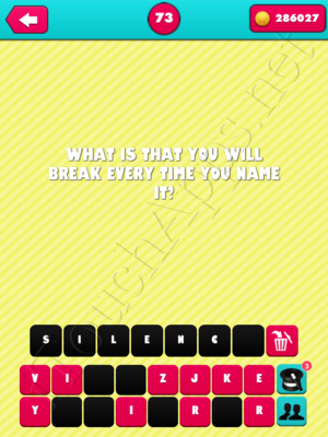 What the Riddle Level 73 Answer