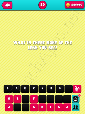 What the Riddle Level 80 Answer