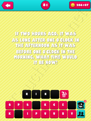 What the Riddle Level 81 Answer