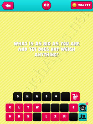 What the Riddle Level 82 Answer