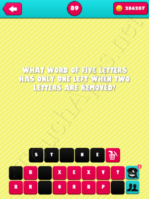 What the Riddle Level 89 Answer