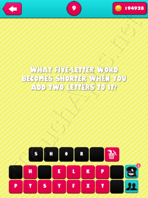 What the Riddle Level 9 Answer