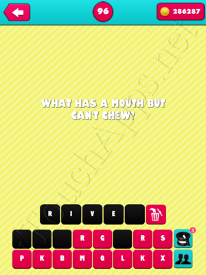 What the Riddle Level 96 Answer