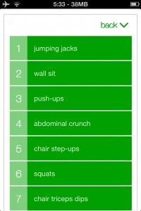 7 Minute Workout App Screenshot